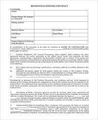 7 roofing contract templates u2013 free pdf format download free