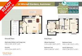 14 mitchell gardens new 3 bedroom home axminster homes