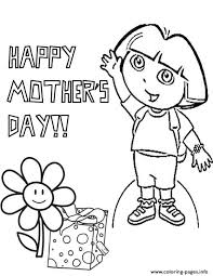 dora mothers coloring pages printable
