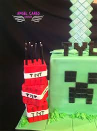 angel cakes bakery minecraft creeper birthday cake