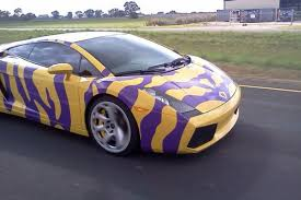 gold and white lamborghini meet the man who painted lsu tiger stripes on a lamborghini
