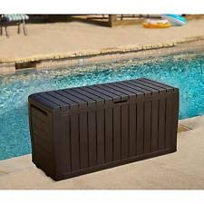 outdoor storage bench ebay