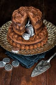 new year chocolate chocolate pinata cake with chocolate chestnut and mascarpone frosting
