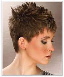 short hairstyles for thick hair over 50 short spiky haircuts