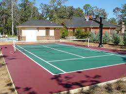 backyard basketball courts home sport courts middle tennessee