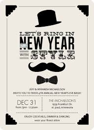 new year invitation card black and vintage formal wear new years invitation