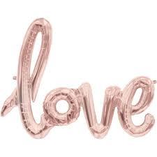 rose gold love script foil balloon hobbycraft
