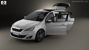 peugeot tepee interior 360 view of peugeot 308 sw with hq interior 2014 3d model hum3d