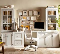 Pottery Barn White Desk With Hutch Logan Small Office Suite Pottery Barn Craft Room Office