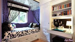 Small Teenage Bedroom Decorated With Paisley Wallpaper And by Amazing Bedroom Decorating Ideas For Teenage Contemporary
