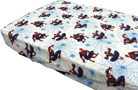 marvel white spiderman toddler fitted sheet 100 cotton 52