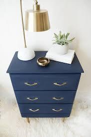 modern navy nightstand makeover brepurposed