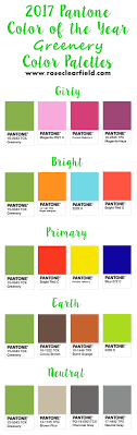 pantone color palette 2017 pantone color of the year greenery inspiration rose clearfield