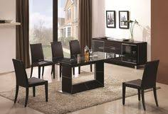 Modern Glass Dining Room Table Black Glass Dining Table 2 Tier Oval Four Chairs Black Glass