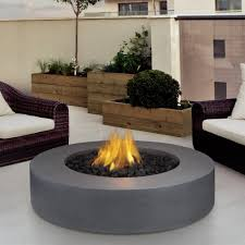 round propane fire pit table shop real flame 9660lp fg flint gray mezzo round propane fire pit at