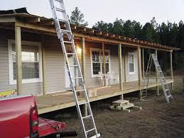 covered porch plans deck designs for mobile homes home design ideas