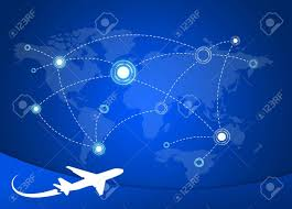 world map stock image airplane routes on world map stock photo picture and royalty free