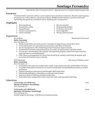 Current Job On Resume by Sales Job On Resume Surprising Job Resume Example Sales Associate