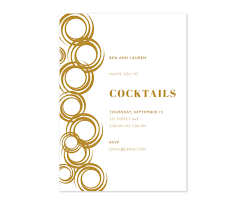 modern simple custom cocktail dinner shower printable party