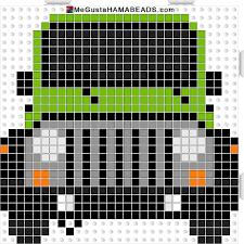 minecraft jeep wrangler jeep wrangle hama perler beads pattern megustahamabeads perler