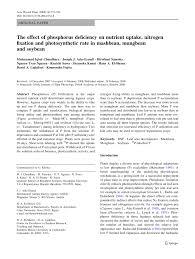the effect of phosphorus deficiency on nutrient uptake nitrogen