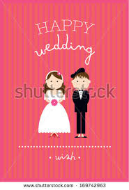 Wedding Poster Template Wedding Invitation Card Template Bride Groom Stock Vector