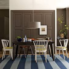 Black And Wood Dining Table Angled Leg Expandable Table West Elm