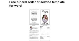 sles of memorial programs free funeral order of service template for word docs