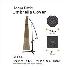 13 Patio Umbrella by Amazon Com Classic Accessories Hickory Heavy Duty Offset Patio