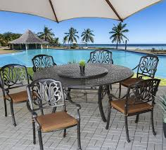 8 Seat Patio Dining Set - elisabeth outdoor patio 7pc set with series 5000 71