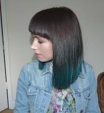 long bob with dipped ends hair dip dye turquoise hair make up hair and nails pinterest
