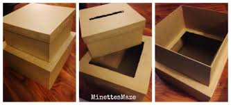 graduation boxes minettesmaze diy chevron graduation card box
