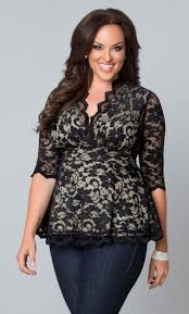 linden lace top black lace lining plussize