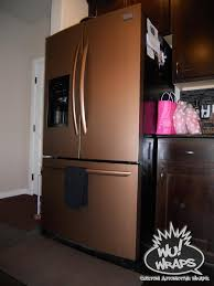 Copper Kitchen Decor by Fridge Stove Mircowave Dishwasher Wrapped In 3m Di Noc Me380