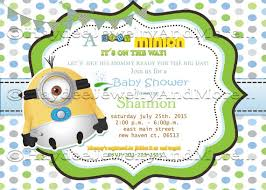 minions baby shower baby shower invitations fascinating minion baby shower