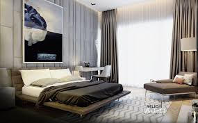 masculine master bedroom dark grey painted wall stainless steel