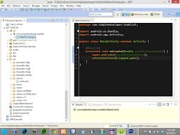 create an android apps from scratch