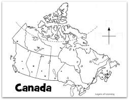 canada blank map printable map