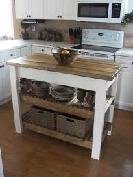 Furniture For Kitchens Furniture Black Movable Kitchen Island With Oak Top And Shelves