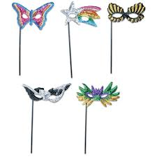 masquerade mask in bulk sequin masquerade masks with sticks z novelties