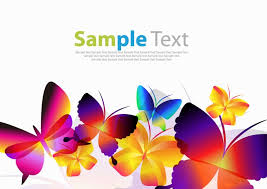 colorful butterflies vector free vector graphics all free