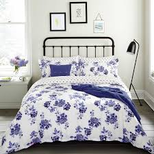 inky blue floral bedding inky chinoiserie at bedeck 1951
