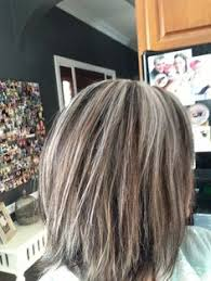 hilites for grey or white hair blending with grey in brown hair google search pinteres