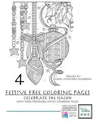 4 festive u0026 free holiday coloring pages adults pdf