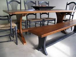 trestle dining table with bench trestle farm tables