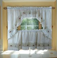 Vertical Ruffle Curtains by Vintage Embroidered Macrame Semi Sheer Tier Window Treatment Park