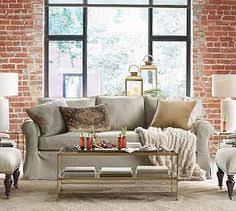 Pottery Barn Buchanan Sofa by Soma Hawthorne English Arm Slipcovered Sofa Down Blend Wrapped