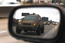 lifted subaru xv lifted subaru in rearview mirror crankshaft culture adventure