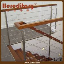 china simple design side mounted stainless steel stair railing sj