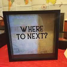 wedding gift next where to next travel adventures ticket stubs 12x12 shadow box
